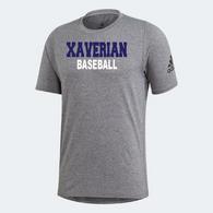 Xaverian HS Adidas Team Grey Shortsleeve - Baseball