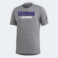 Xaverian HS Adidas Team Grey Shortsleeve - Lacrosse