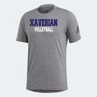 Xaverian HS Adidas Team Grey Shortsleeve - Volleyball