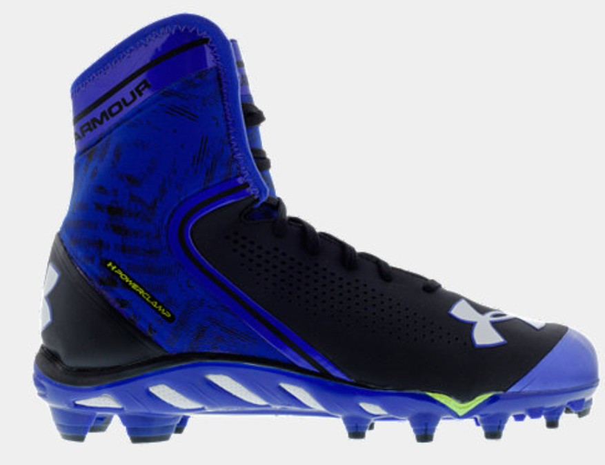 811fb062bd54 Under Armour Mens UA Spine Brawler MID Football Cleats Royal. Your Price:  $89.99 (You save $60.00). Black / Royal (041)