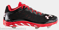Under Armour Men's UA Spine Metal Baseball Cleat Red