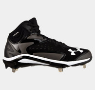 Under Armour Men Yard Mid ST Baseball Cleat Black