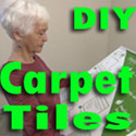 diy carpet tile with granny