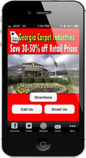 Free Phone App from Georgia Carpet Industries