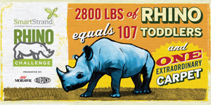 Mohawk Carpet Smartstrand Rhino challenge