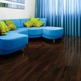 "Brazilian Angelim Ebony 3/4 x 5 1/2"" - IndusParquet Textured Solid Hardwood"