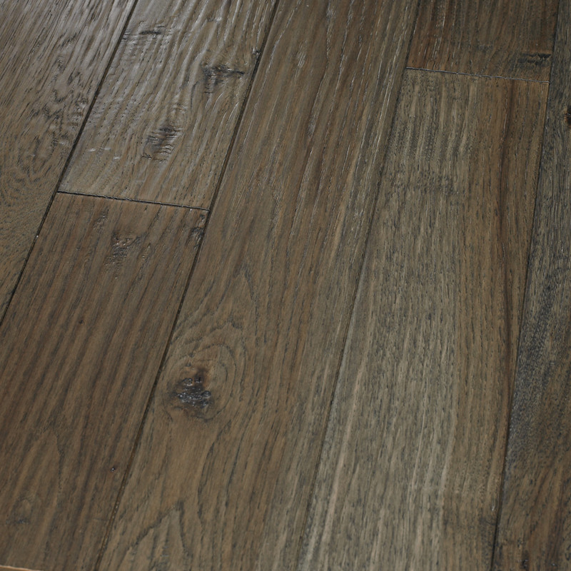 Amish HandScraped Hickory Graphite Hardwood Flooring by HomerWood