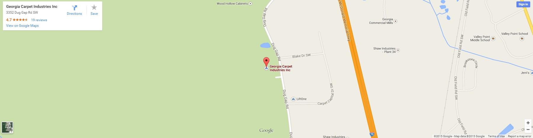 Georgia Carpet Industries on Google Maps