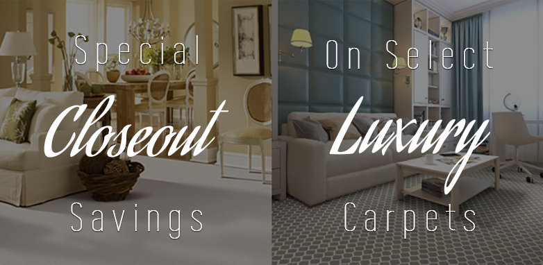Special end of the year savings on select luxury carpets.