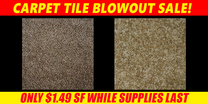 Carpet Tile Blowout Sale with Free Shipping!