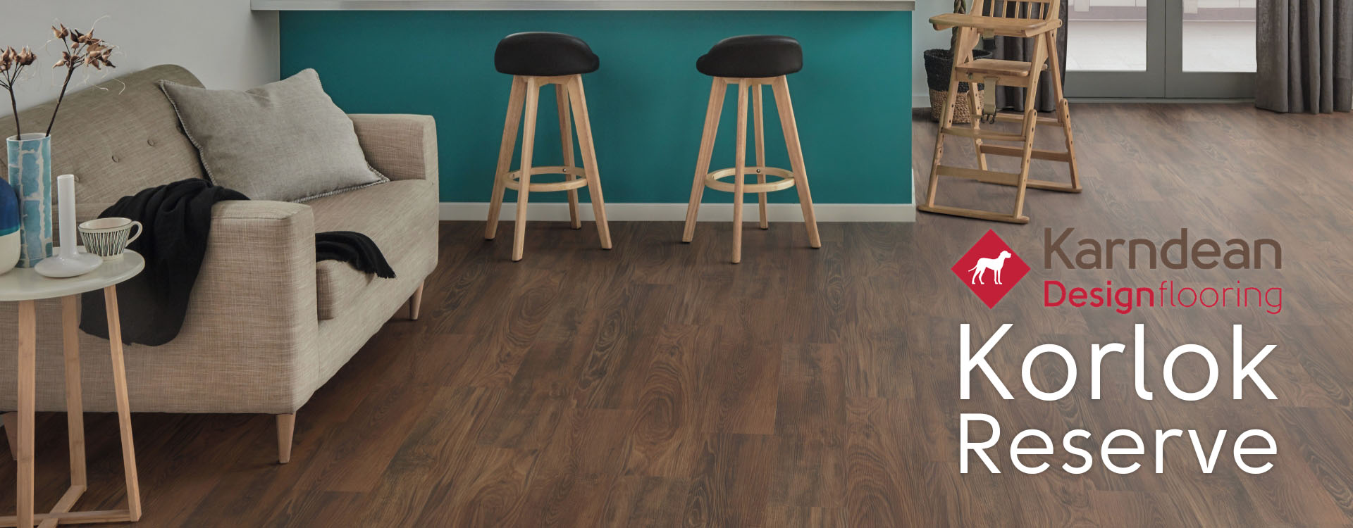 New Rigid Core flooring from Karndean Flooring; Korlok Reserve. Everything clicks with Korlok.