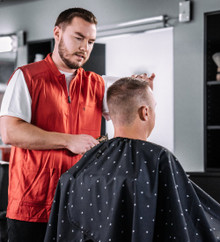 BARBER STRONG - The Barber Cape - Barber Shield Black
