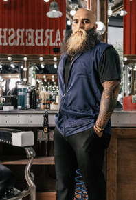 BARBER STRONG - The Barber Vest - Blue