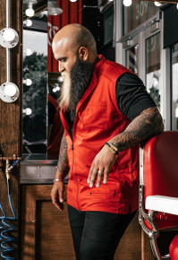 BARBER STRONG - The Barber Vest - Red