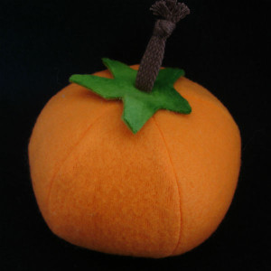 Catnip filled Halloween pumpkin