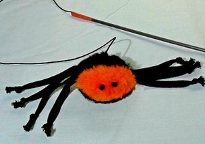 Spook interactive stick toy with enticing catnip inside....fun, fun! May be purchase without stick. Please choose option.