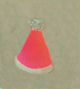 All new fun catnip filled Santa hat with glitter pom top!