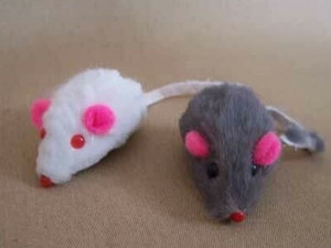 Fun fur mice with a bit of a rattle.