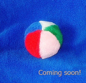 A great catnip toy, just a bit smaller! Rolling, chasing fun for your pet that you can still find under the furniture!