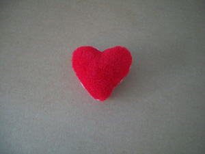 Fun furry Catnip Heart