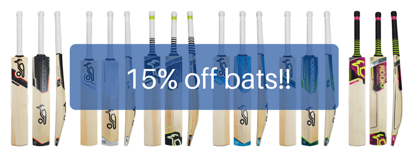 15% off cricket bats image