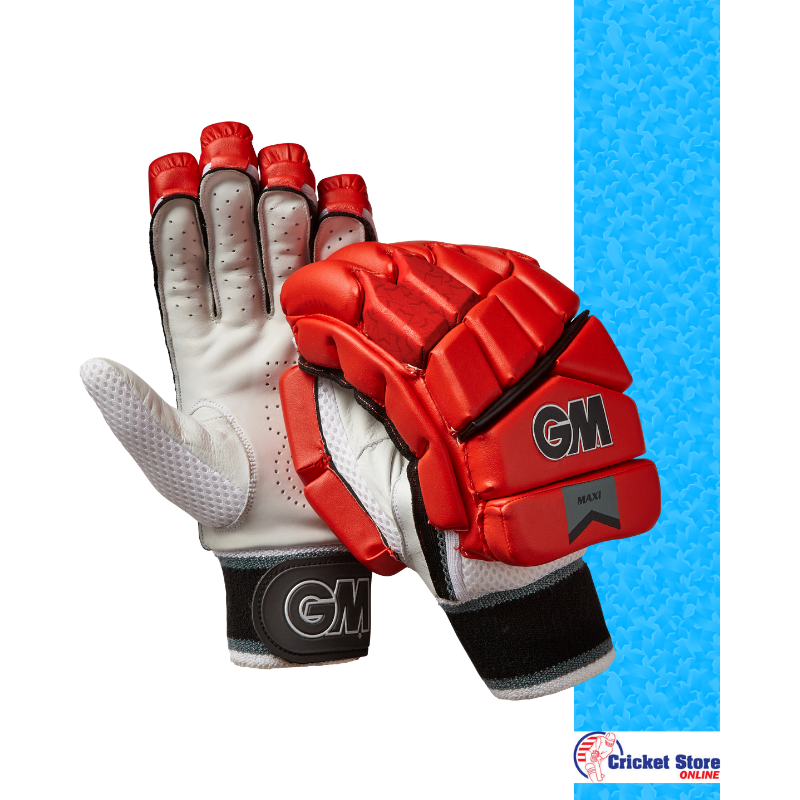 GM Maxi Red T20 Batting Gloves 2019