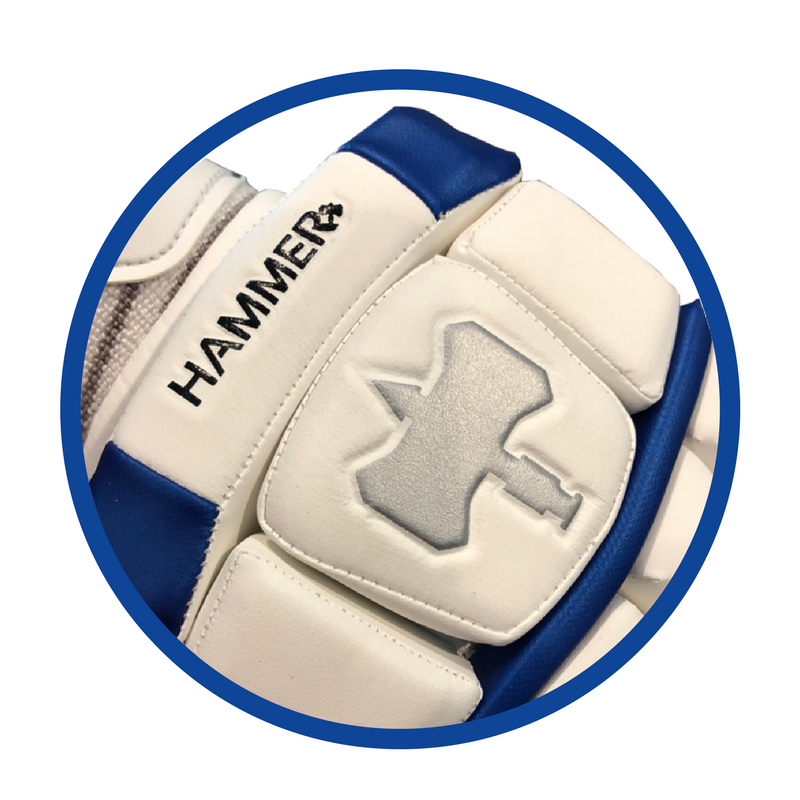 Hammer logo on LE batting gloves