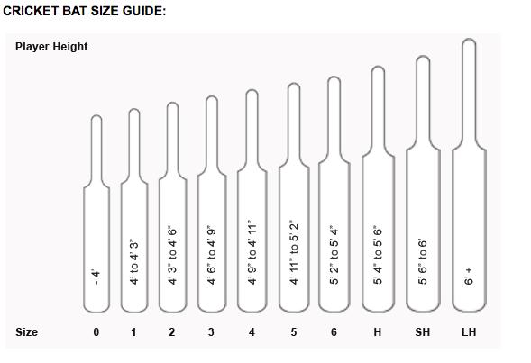 Bat Sizing Chart Cricket Softball Bat Size Chart