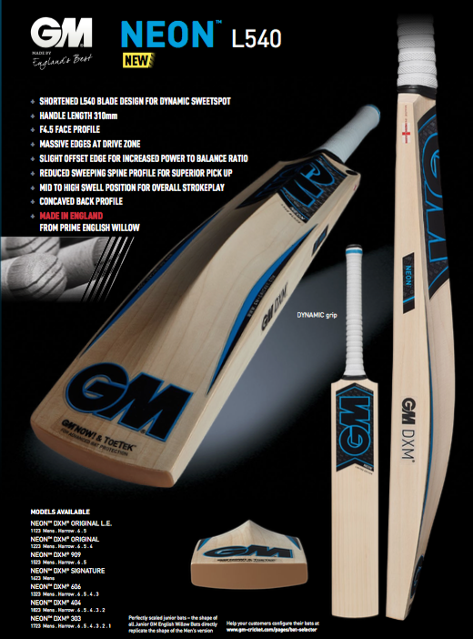GM Neon L540 Cricket Bat image