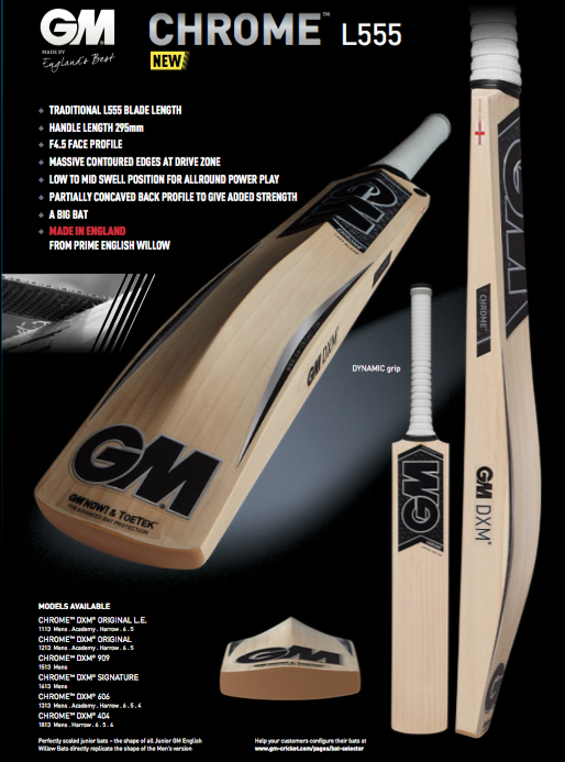GM Chrome L555 Cricket Bat image