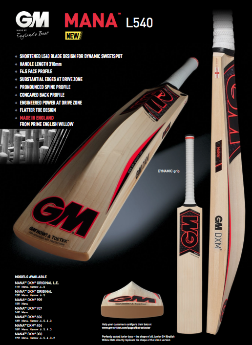 GM Mana L540 Cricket Bat image