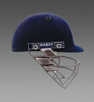 Navy Blue Color Helmet Shrey Pro Gaurd Cricket Helmet - Steel image