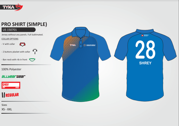 India T20 Replica Tshirt for a Local team in USA - Custom Uniform at best