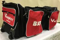 BAS Vampire ODI Wheelie Kit Bag Black and Red 01