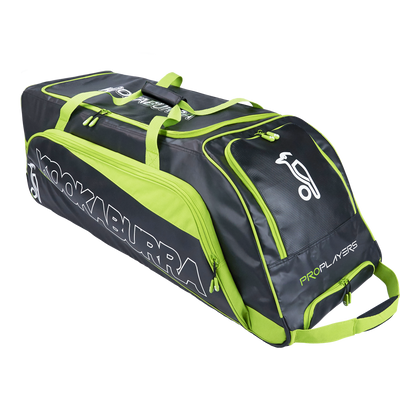 KB Pro Players Wheelie Cricket Bag 2017 Range in Black and Lime Color Combination