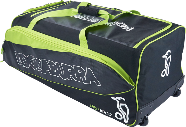 KB Pro 3000 Wheelie Cricket Kit Bag other side view with Square Base
