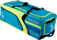 KB Pro 800 Wheelie Cricket Kit Bag in Blue, Yellow and Black Color combination