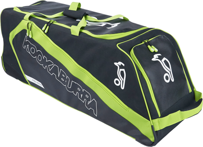KB Pro 2500 Wheelie Cricket Kit Bag 2017 in Black and Green combination