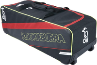 KB Pro 2000 Wheelie Cricket Kit Bag in Black and Red color combination for 2017 range wheelie view