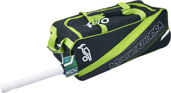 KB Pro 1500 Wheelie Kit Bag in 2017 range with Black and Lime color combination shoulder length bat cave