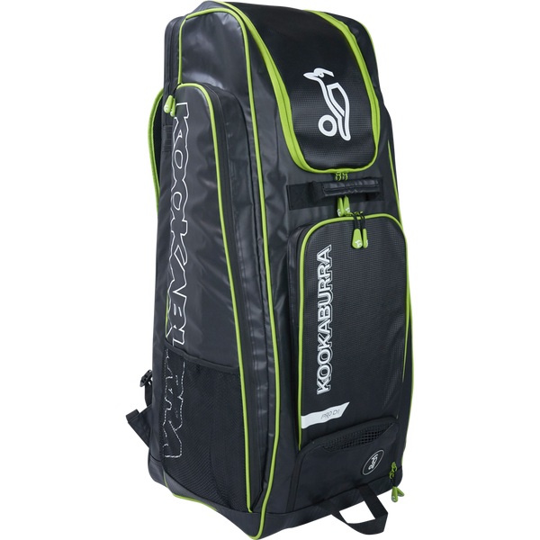 Kookaburra Pro D1 Duffle Bag - black/green 2017 Front View