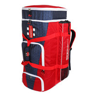Large duffle bag with pockets for wet kit, shoes and helmet. Side bat pockets with rain cover for grip. Padded straps. Size: 80 x 36 x 38cm Number of Pockets: 7