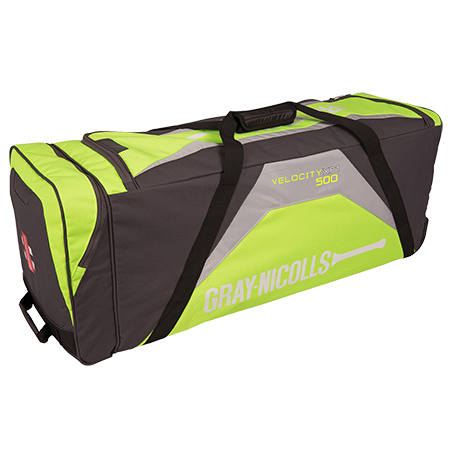 Compact wheelie bag with innovative pocket design to maximise storage capacity in a sensible sized bag. Main storage area. Full length padded side bat pocket, line valuables pocket. Wheelie system with hard wearing anti scuff material to add durability. Ergonomic strap system for easy carry. Size: 90 x 30 x 36cm. Number of pockets: 3 plus slide in bat section.