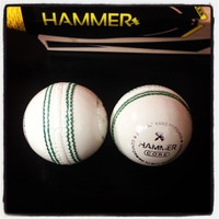 Hammer Core White Cricket Ball - Junior Size 4 3/4 OZ