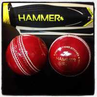Hammer Pro Red Cricket Ball - Junior Size 4 3/4 OZ