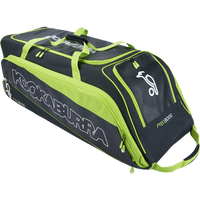 Kookaburra Pro 3000 Wheelie Bag - Blk/Grn 2018