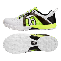 Kookaburra KCS 1500 Rubber Shoes - White/Fluro 2018