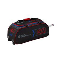 GM 606 Wheelie Cricket Kit Bag - Blk/Red/Blu 2019
