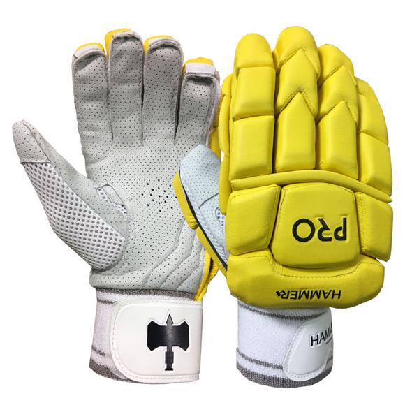 Hammer Pro Batting Gloves - Royal Yellow 2018 image 1