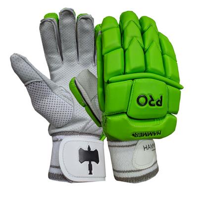 Hammer Pro cricket Batting Gloves - Green 2018